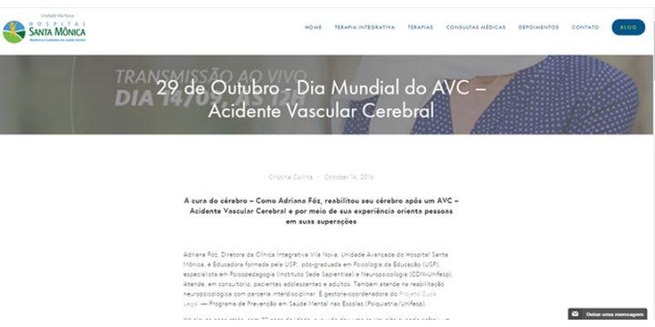 29 de Outubro – Dia Mundial do AVC – Acidente Vascular Cerebral
